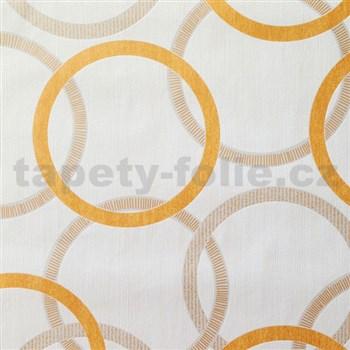 Vliesové tapety na zeď Summer Special - kruhy oranžové