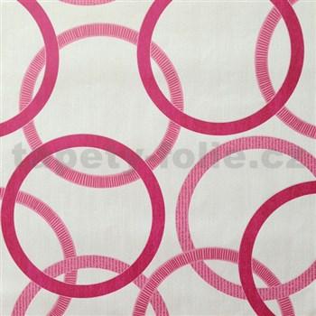 Vliesové tapety na zeď Summer Special - kruhy růžové - POSLEDNÍ KUSY