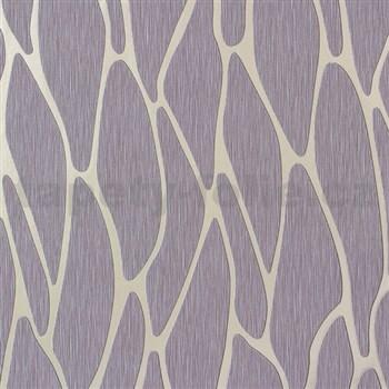 Vliesové tapety na zeď Homestory abstraktní elipsy zlaté na hnědém podkladu