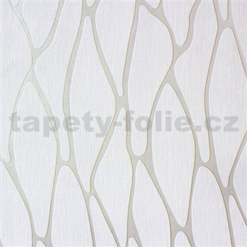Vliesové tapety na zeď Homestory abstraktní elipsy krémové