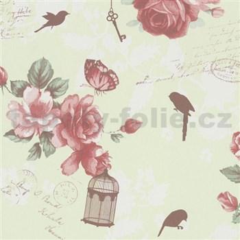 Vliesové tapety na zeď Zuhause Wohnen3 - Vintage Bird zelené
