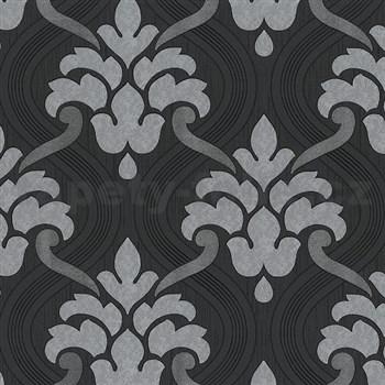 Vliesové tapety na zeď Memphis ornament šedo-stříbrný - POSLEDNÍ KUS