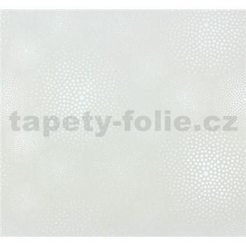Vliesové tapety na zeď Messina kolečka perleťově bílé