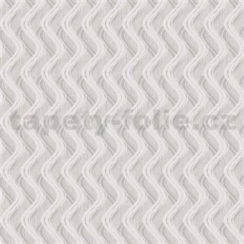 Vliesové tapety na zeď Mixing vlnovky strukturované světle hnědé