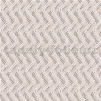 Vliesové tapety na zeď Mixing vlnovky strukturované hnědé