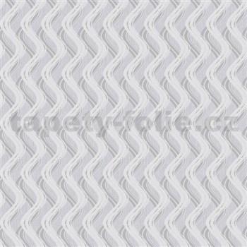 Vliesové tapety na zeď Mixing vlnovky strukturované šedé - POSLEDNÍ KUSY