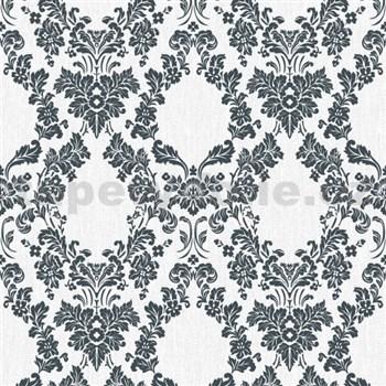Vliesové tapety na zeď Mixing ornamenty černé na bílém podkladu