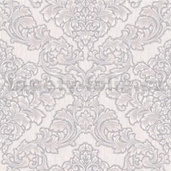 Vliesové tapety na zeď Mixing zámecký vzor bílo-hnědý na šedém podkladu - POSLEDNÍ KUSY