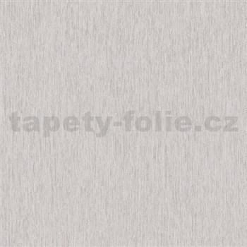 Vliesové tapety na zeď Mixing strukturované proužky hnědé s třpytkami