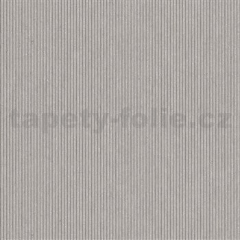 Vliesové tapety na zeď IMPOL Modernista úzké proužky hnědé s metalickou patinou