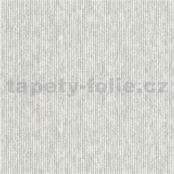 Vliesové tapety na zeď IMPOL Modernista uzké proužky šedé s metalickou patinou
