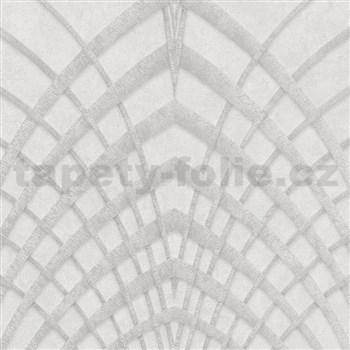 Vliesové tapety na zeď IMPOL Modernista Art Deco stříbrná na béžovém podkladu