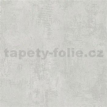 Vliesové tapety na zeď Nabucco strukturovaná omítka světle šedá a stříbrná