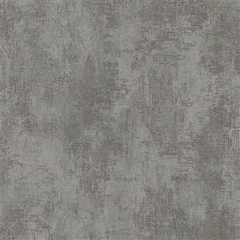 Vliesové tapety na zeď Nabucco strukturovaná omítka šedá s metalickými odlesky