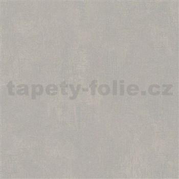 Vliesové tapety na zeď Nabucco strukturovaná omítka hnědo-šedá s metalickými odlesky