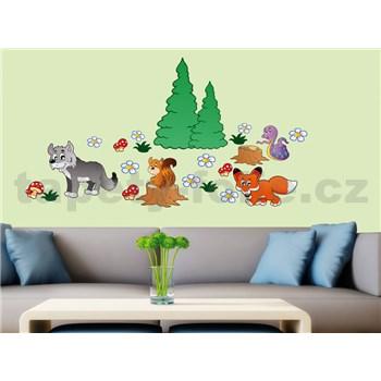 Samolepky na zeď Animals 50 cm x 70 cm