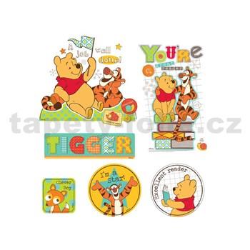 Samolepky na zeď dětské - medvídek Pú a Tigr 30 x 40 cm