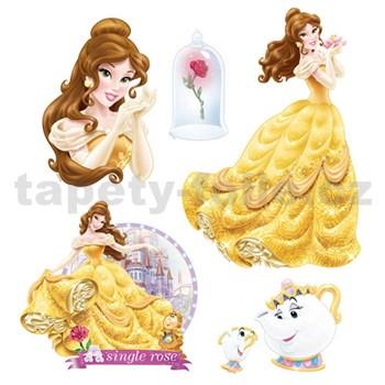 Samolepky na zeď dětské - princezna Bella 30 x 40 cm
