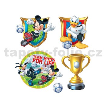 Samolepky na zeď dětské - Mickey, Donald, Goofy 30 x 40 cm