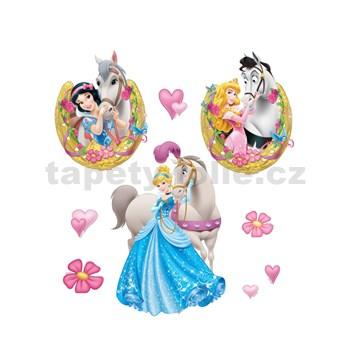 Samolepky na zeď Princezna a kůň rozměr 30 x 40 cm
