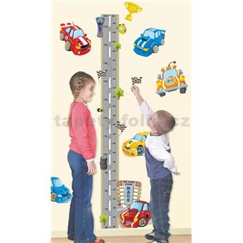 Samolepicí metr na stěnu s auty do výšky 175 cm