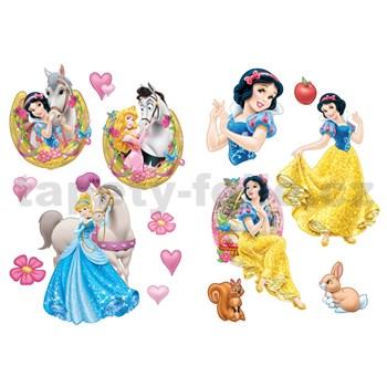 Samolepky na zeď Disney - princezny a kůň rozměr 2 x 45 x 65 cm
