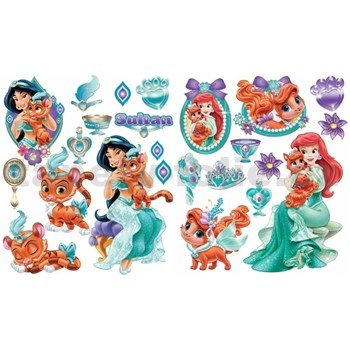 Samolepky na zeď Disney - princezny a zvířátka rozměr 2 x 45 x 65 cm