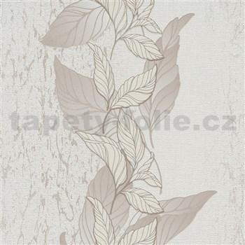 Vliesové tapety na zeď Natalia popínavé listy hnědé