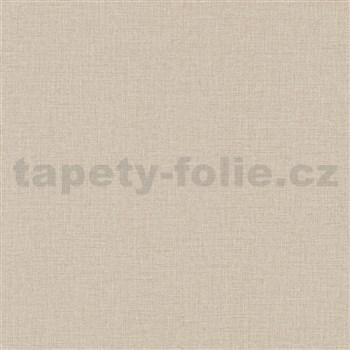 Vliesové tapety na zeď Natalia textilní struktura hnědá
