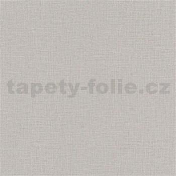 Vliesové tapety na zeď Natalia textilní struktura šedá