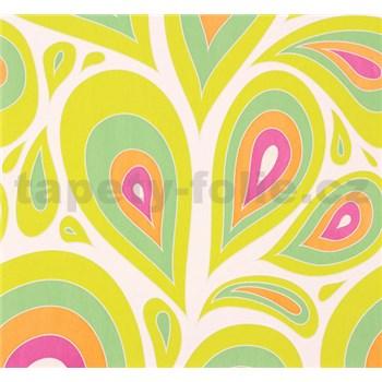 Vliesové tapety na zeď NENA kapky růžovo-zelené