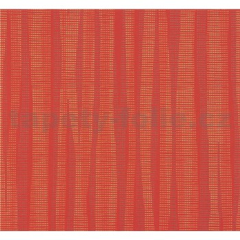 Vliesové tapety na zeď NENA abstrakt cihlově červený