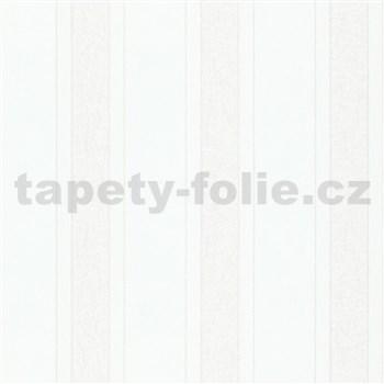 Vliesové tapety na zeď IMPOL NEU pruhy bílé se strukturou vláken s odlesky