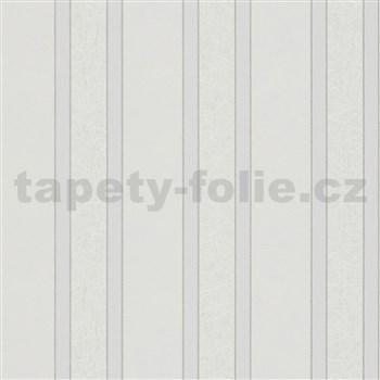 Vliesové tapety na zeď IMPOL NEU pruhy šedé se strukturou vláken s odlesky