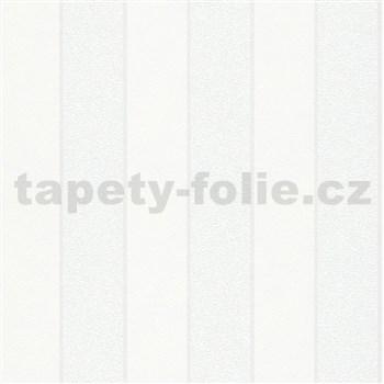 Vliesové tapety na zeď IMPOL NEU bílé pruhy s bílými metalickými proužky