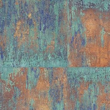 Vliesové tapety na zeď NEUE BUDE 2.0 betonová zeď zeleno-tarakotová