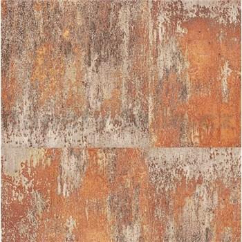 Vliesové tapety na zeď NEUE BUDE 2.0 betonová zeď oranžovo-zlatá