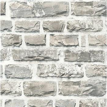 Vliesové tapety na zeď NEUE BUDE 2.0 cihlová stěna světle hnědá
