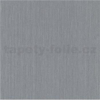 Vliesové tapety na zeď IMPOL New 21 jednobarevné stříbrné s jemnou strukturou proužků