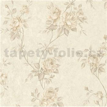 Vliesové tapety na zeď IMPOL Romantico popínavé růže hnědé