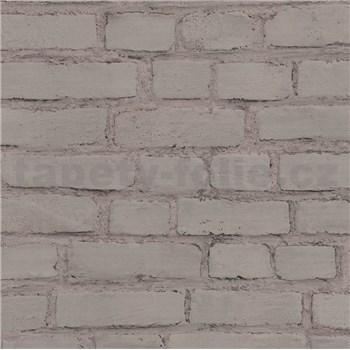 Vliesové tapety na zeď IMPOL New Studio cihla hnědá