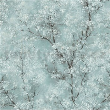 Vliesové tapety na zeď IMPOL New Wall florální vzor tyrkysový