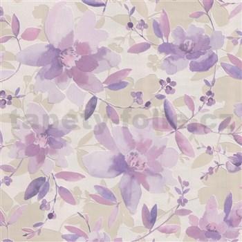 Vliesové tapety na zeď Nizza květy fialové