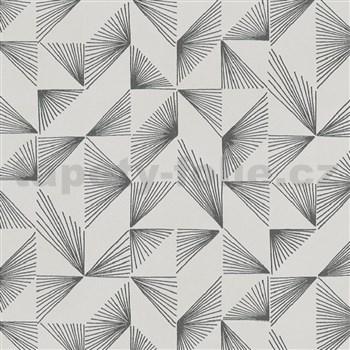 Vliesové tapety na zeď New Modern paprskový vzor šedý