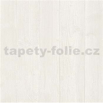 Vliesové tapety na zeď Belinda dřevěný obklad bílý