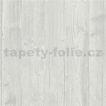 Vliesové tapety na zeď Belinda dřevěný obklad šedý