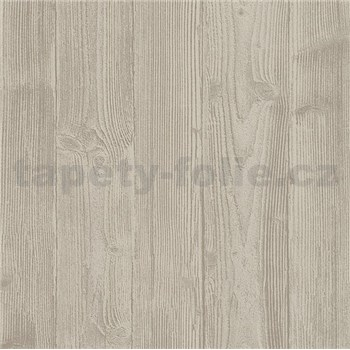 Vliesové tapety na zeď Belinda dřevěnný obklad světle hnědý