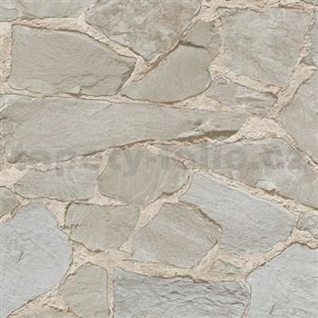 Vliesové tapety na zeď Belinda kameny hnědo-šedé světlé