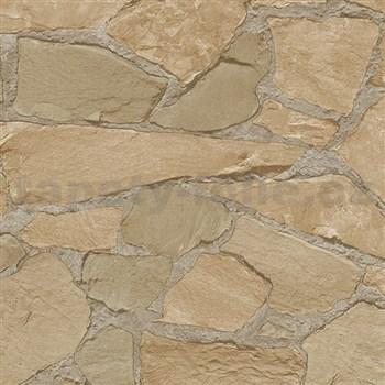 Vliesové tapety na zeď Belinda kameny hnědé