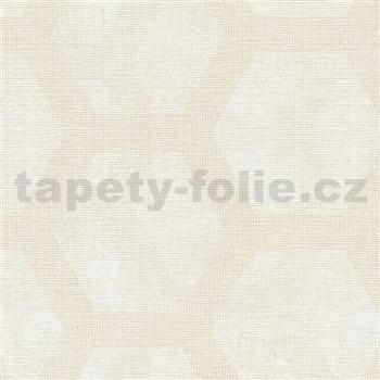 Vliesové tapety na zeď Belinda plástve krémovo-bílé